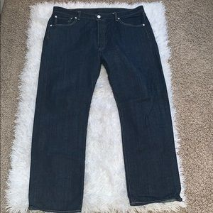 Men's Levi 501 blue jeans size 38x32